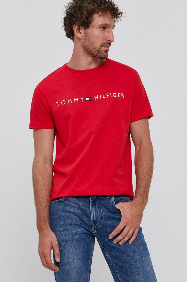 Tricou barbati rosu Tommy Hilfiger cu imprimeu