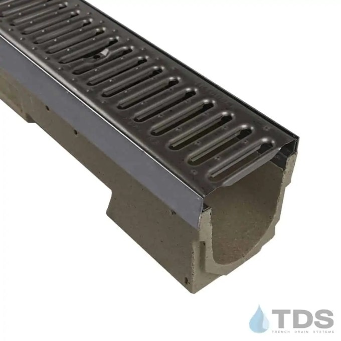 Ulma U100kx Channel With Stainless Steel Slotted Grate Drainage Kits