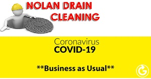 Call 086 8032603 for 24 hour advice and service - Open for business and our full essential sanitary drain cleaning & drain unblocking services