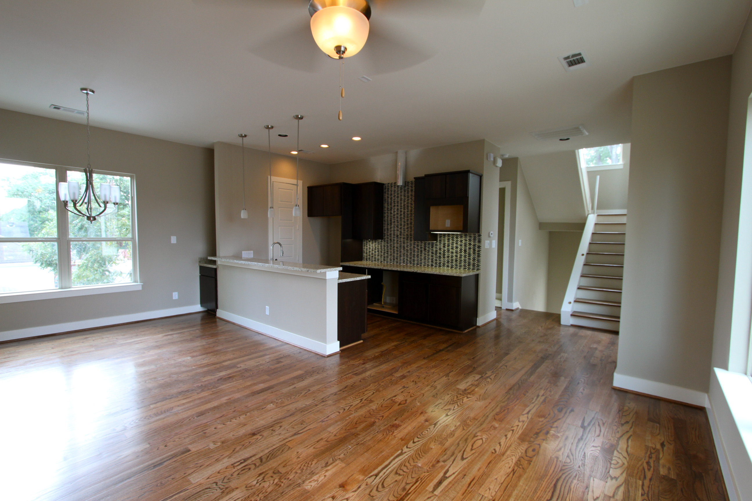 Wood floor - kitchen - Drake Homes Inc