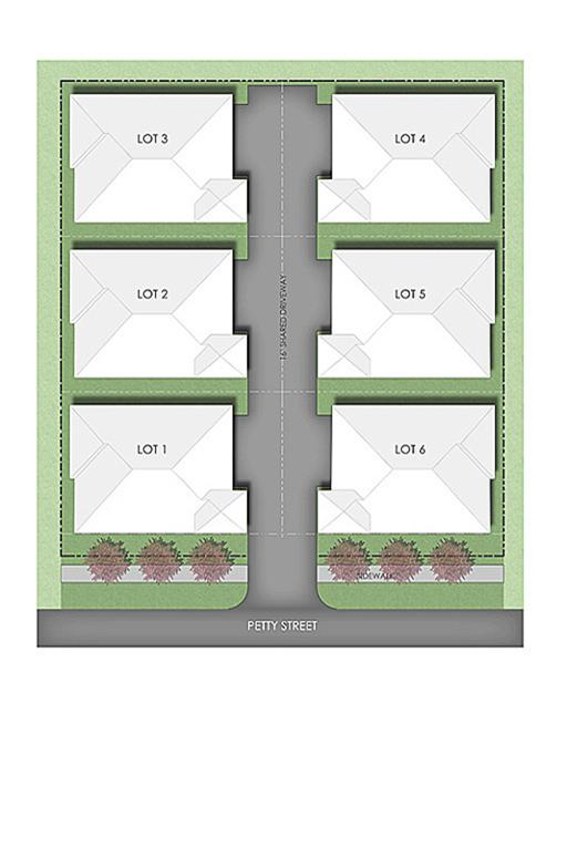 Petty St Townhomes site map