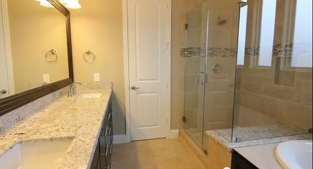 Master bath - tub, shower, sink