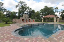 Pool, outdoor fireplace, gazebo Shenandoah, TX