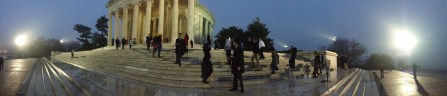 Panoramic view of the Jefferson Memorial