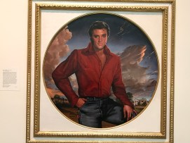 Elvis Presley staring right into your soul. (Photo Credit: Riley Fink)