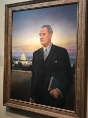 President Lyndon B. Johnson featured against a D.C. sunset. (Photo Credit: Riley Fink)