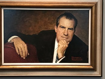 President Richard Nixon in an unusually seductive pose. (Photo Credit: Riley Fink)