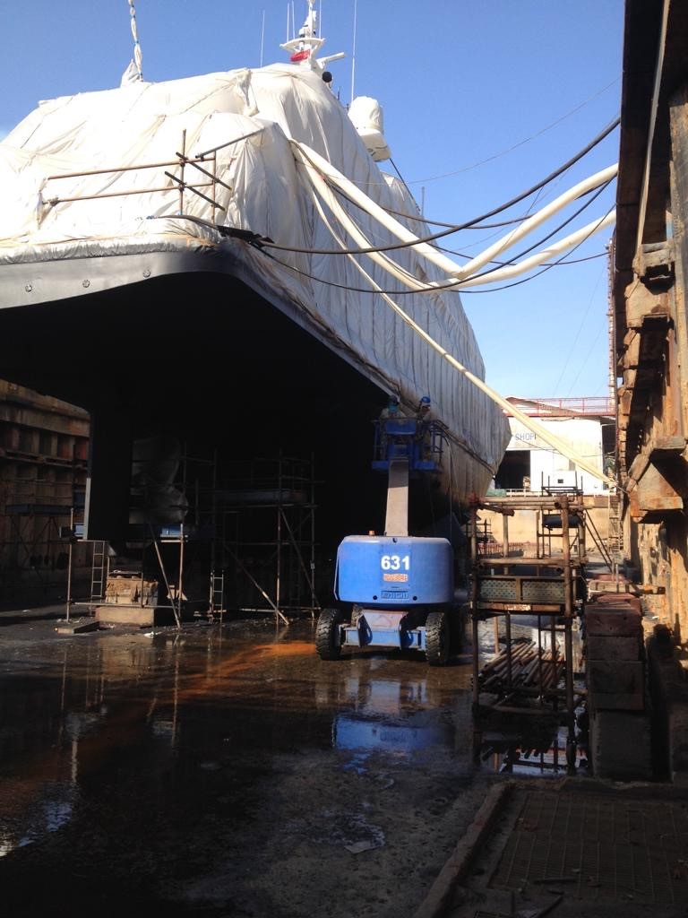 Antifouling marine services boat building