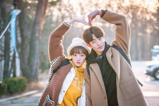 "Nam Joo Hyuk (dan Lee Sung Kyung) dalam ""Weightlifting Fairy"""