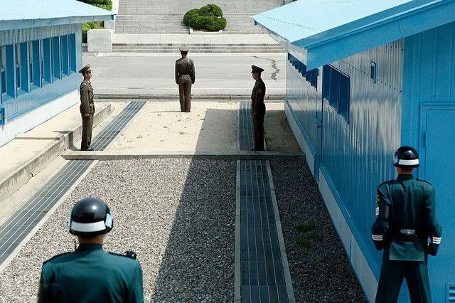 penjagaan di wisata korea DMZ