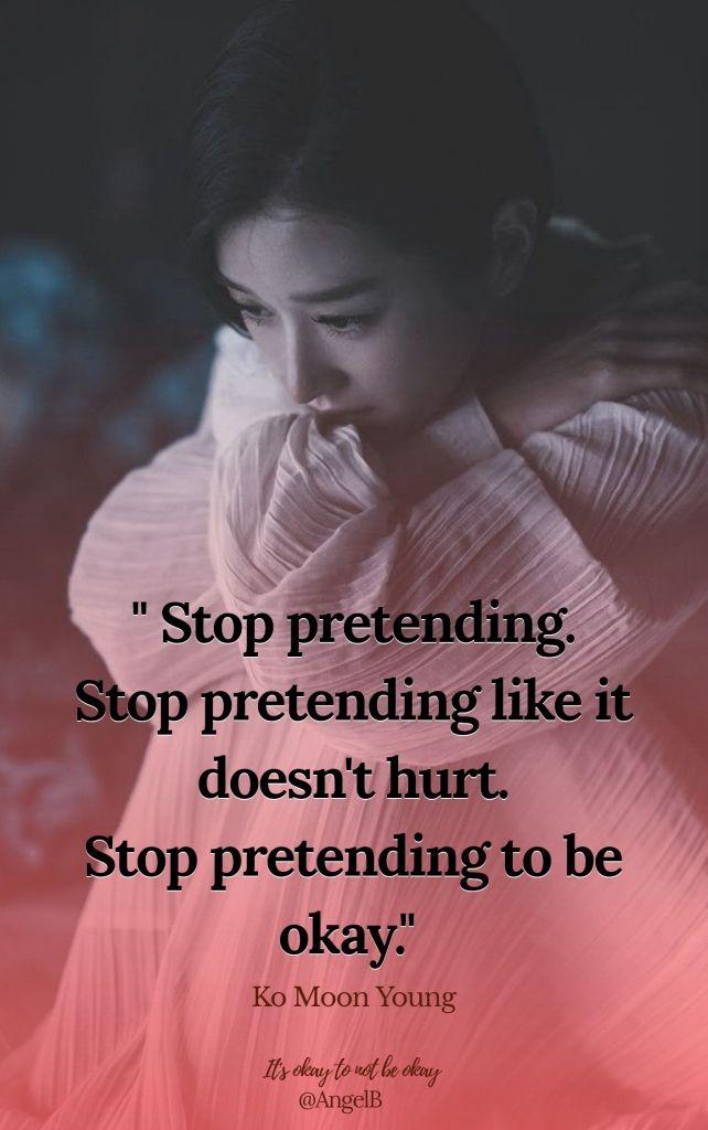 stop pretending - ko moon young