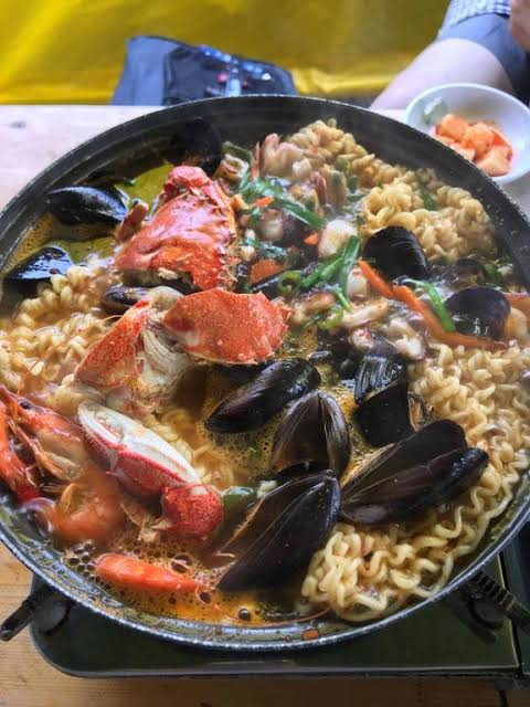 Yummy spicy seafood ramyun. Pinterest