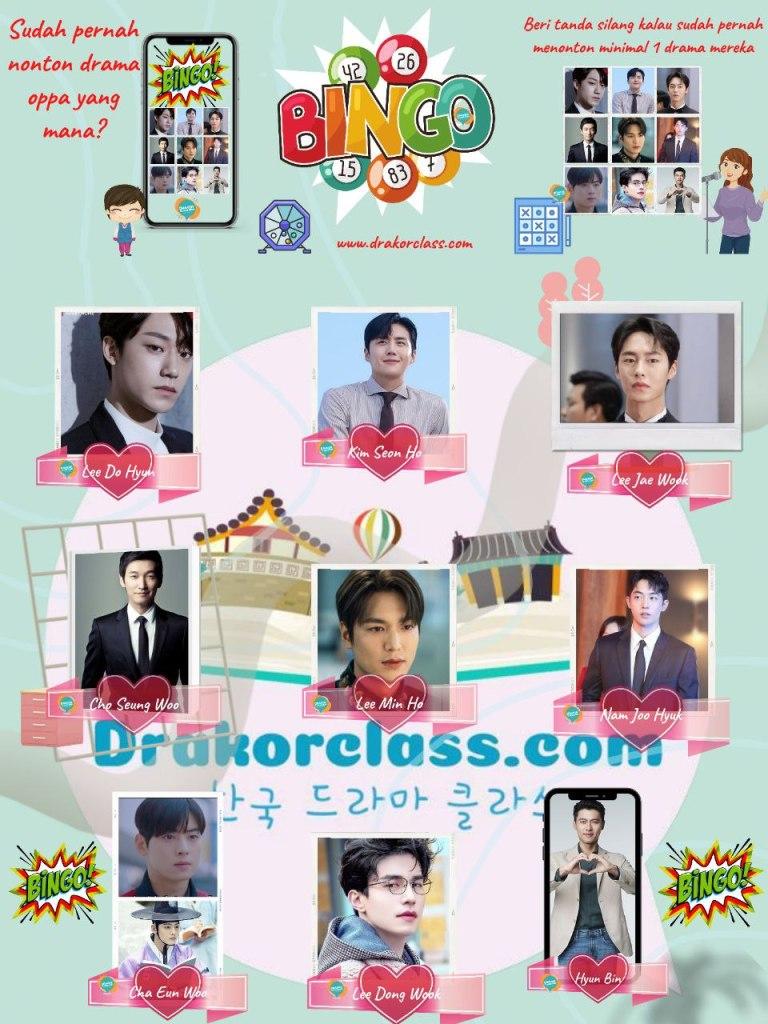puzzle feed bingo aktor k-drama drakorclass
