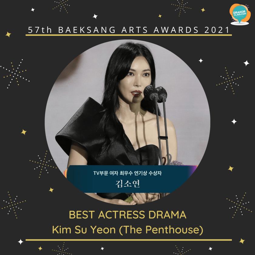 Best Actress Drama Kim Su Yeon (The Penthouse)
