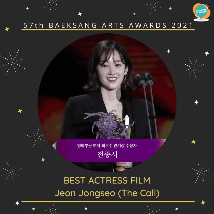 Best Actress Film: Jeon Jongseo (The Call)