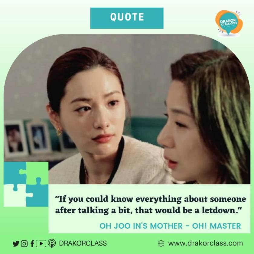 quote dari drakor Oh! Master