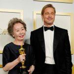 Youn Yuh-jung and Brad Pitt