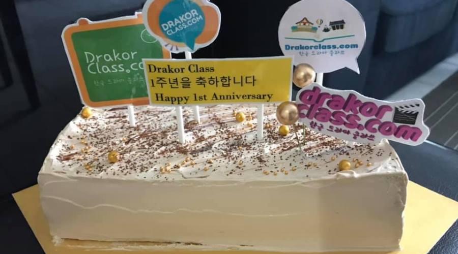Kue Syukuran 1 Tahun Drakor Class