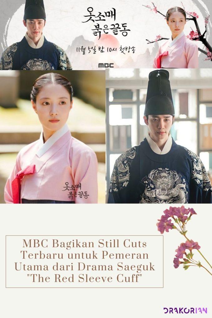 MBC Bagikan Still Cuts Terbaru untuk Pemeran Utama dari Drama Saeguk The Red Stained Sleeve Cuff