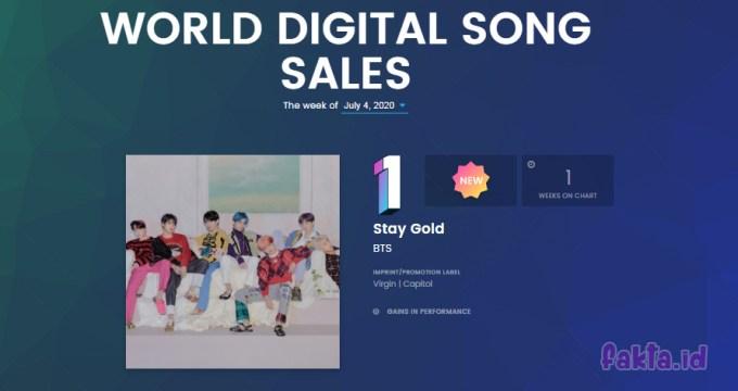 World Digital Song Sales Chart BTS ole Tangga Lagu Billboard