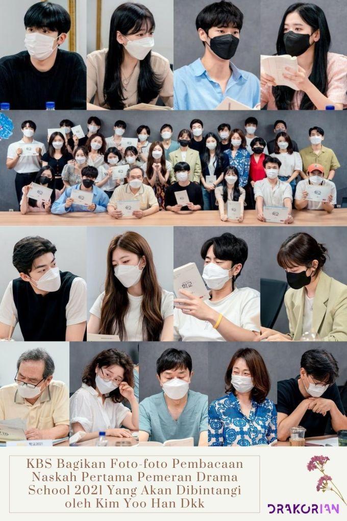 KBS Bagikan Foto foto Pembacaan Naskah Pertama Pemeran Drama School 2021 Yang Akan Dibintangi oleh Kim Yoo Han Dkk