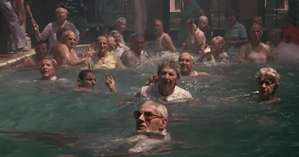cocoon elderly people in pool
