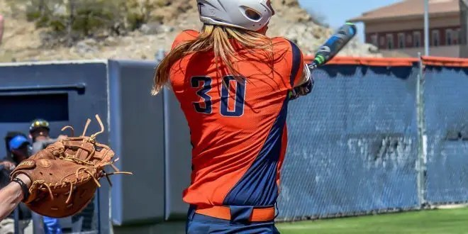 blog picture of college softball player
