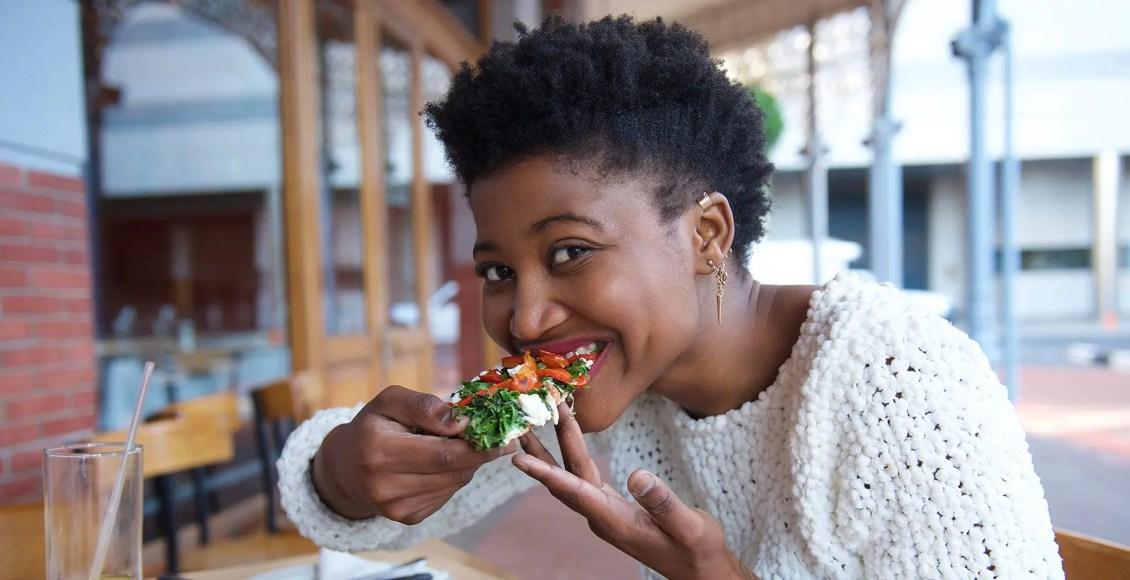 lady eating
