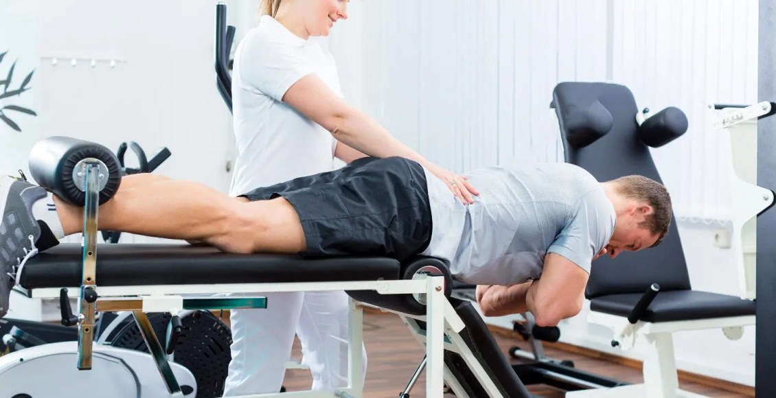 patient at the chiropractors