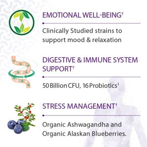 Garden of Life Probiotics Mood+ Claimed Benefits