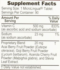 Superior Source Vitamin C Nutrition Information