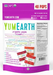 YumEarth Organic Vitamin C Pops back of package