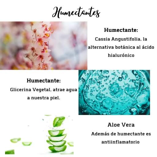 humectantes, glicerina, aloe vera, acido hialuronico