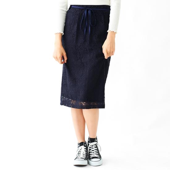 深キョン レーススカート