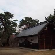 長野県上田市「真田氏館跡」信綱の死を偲んで植えられた御北の松がある