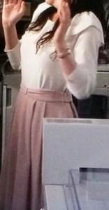 ピンクのスカート可愛い