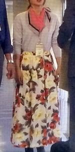 花柄スカートのシーン