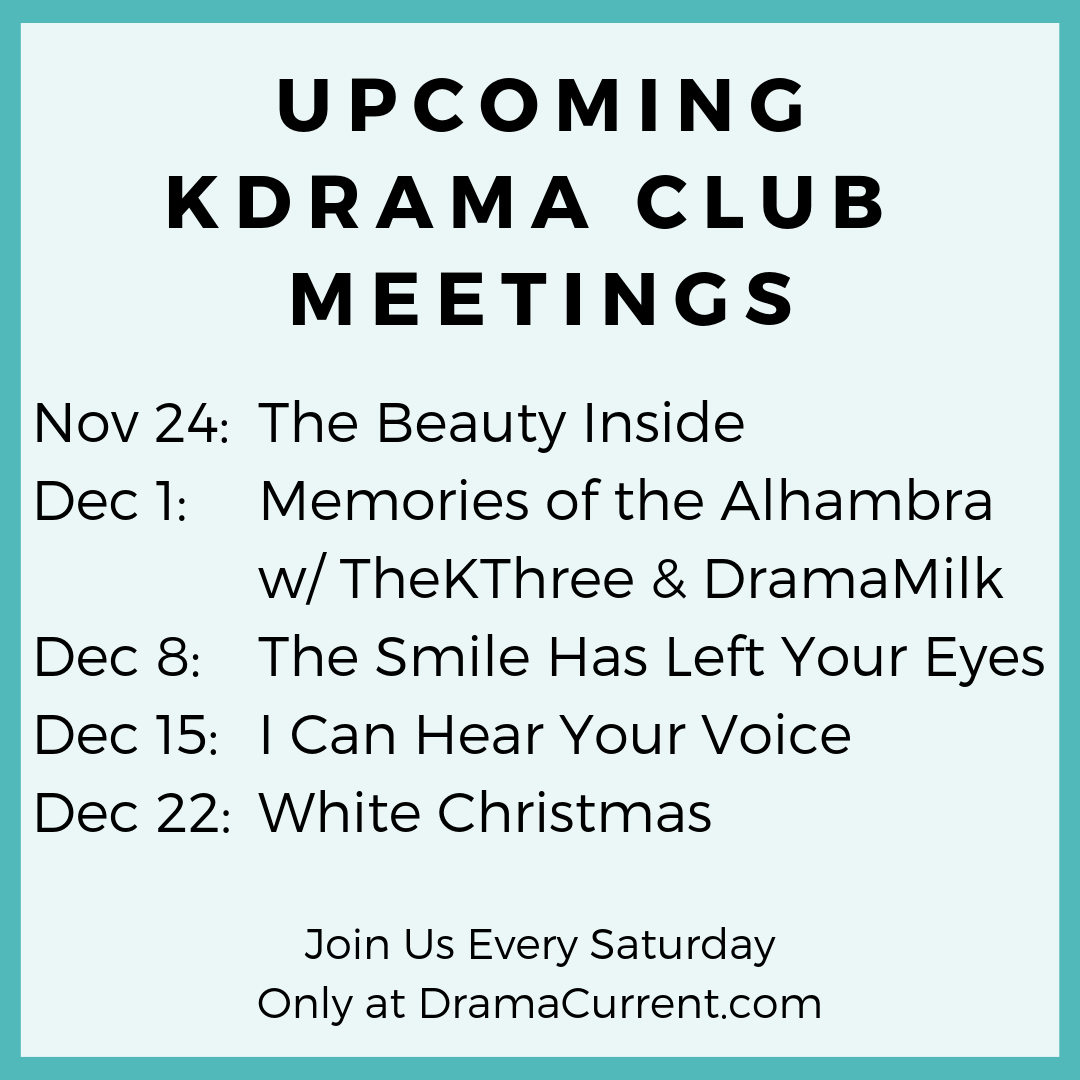 Complete List of KDrama Club Meetings - DramaCurrent
