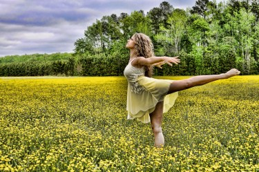 ballet dancer yellow