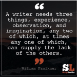 Three Things A Writer Needs