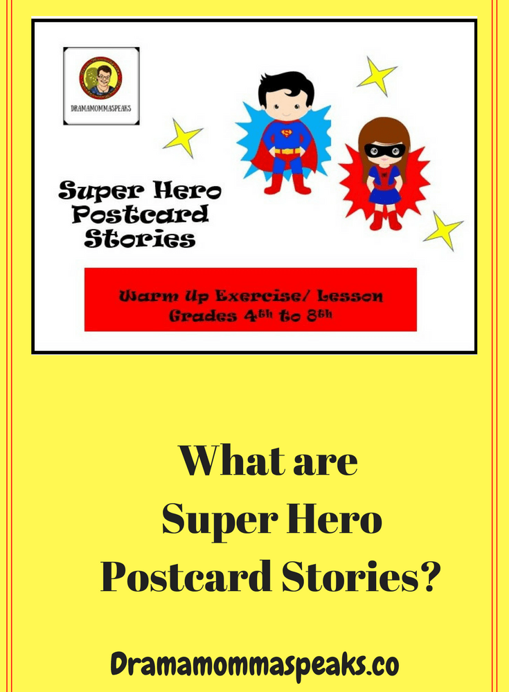 What are Super Hero Postcard Stories?
