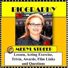 Meryl Streep Newspaper cover square