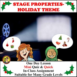 STAGE PROPERTIES HOLIDAY THEME COVER