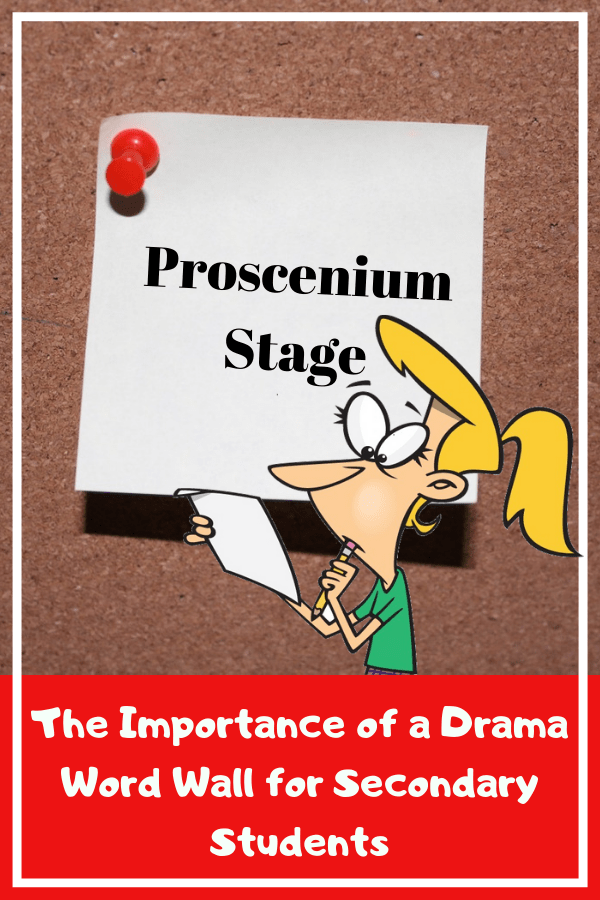 The Importance of a Drama Word Wall for Secondary Students