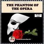 phantom of the opera mask and red rose