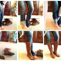 OMG! How to Tuck Non-skinny Jeans into Boots