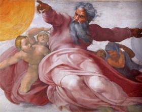"""Michelangelo's """"God"""""""