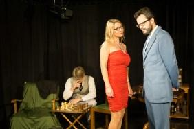 Antoinette und Kürmann, hinten der Spielleiter