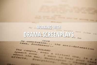 Drama fiction screenplays