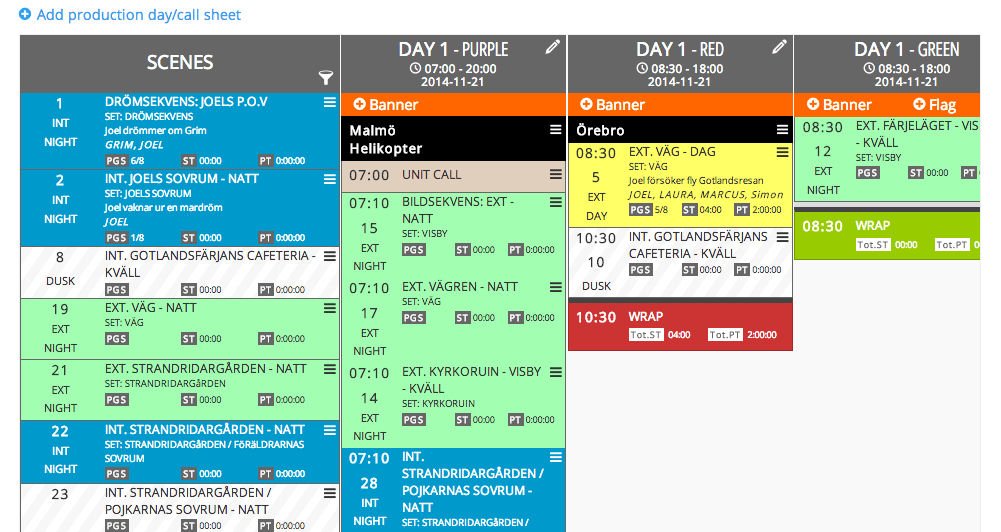 New Drag And Drop Tv Film Production Scheduling